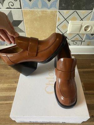 Chloé Sandalo con tacco marrone