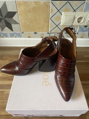 Chloé Sandalo con cinturino marrone-marrone scuro