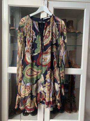 Chloé Vestido de chifón multicolor Seda