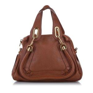 Chloé Satchel camel leather