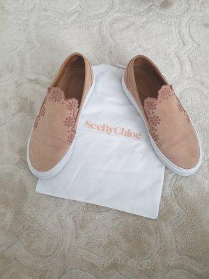 See by Chloé Zapatos formales sin cordones blanco-rosa empolvado