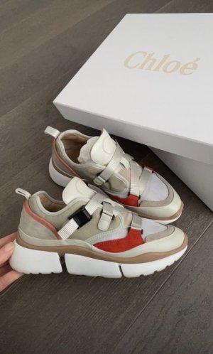 Chloé Sneakersy wciągane szaro-zielony