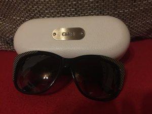 Chloé Ronde zonnebril grijs-zwart