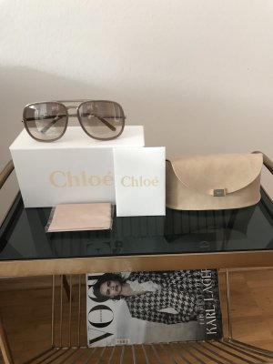 Chloé Retro Glasses beige
