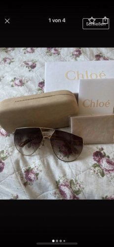 Chloé Retro Glasses gold orange-light brown