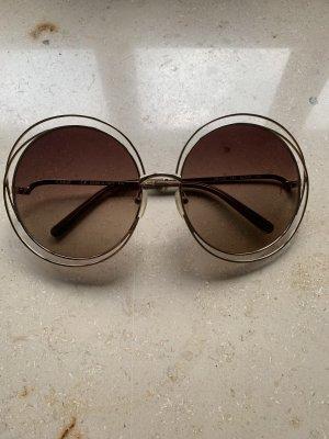 Chloe & Katie Okrągłe okulary przeciwsłoneczne złoto