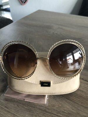 Chloé Occhiale da sole rotondo oro
