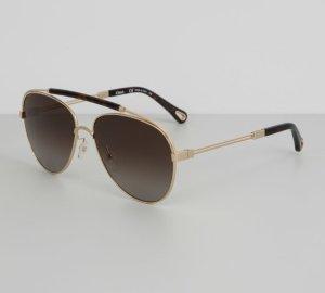 Chloé Gafas de piloto color oro-marrón