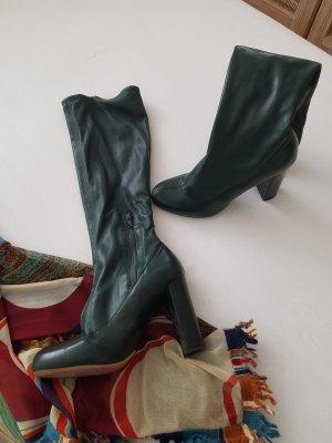 Chloé Botas con tacón verde oscuro