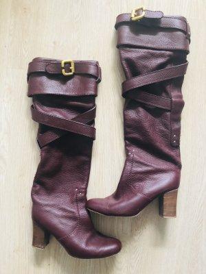 Chloè Stiefel Gr 39 braun rot boots