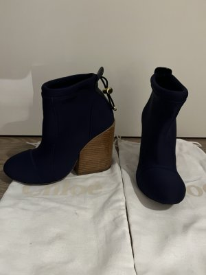 Chloé Botki ciemnoniebieski-niebieski