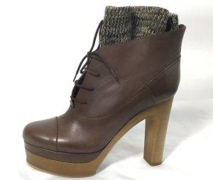 Chloé Patucos con cordones marrón claro Cuero