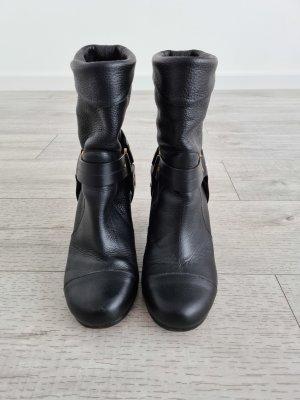 Chloé Botas deslizantes negro Cuero