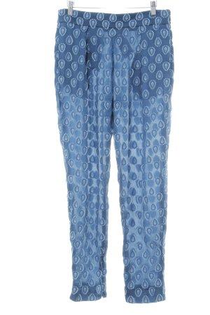 Chloé Stoffhose dunkelblau-himmelblau abstraktes Muster Casual-Look