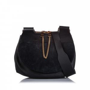 Chloe Suede Drew Saddle Bag