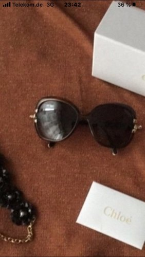Chloé Gafas marrón oscuro-color oro