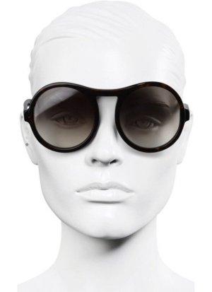 Chloé Round Sunglasses black brown