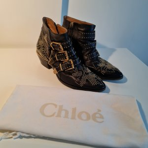 Chloé -Susanna Leather Buckled Boots