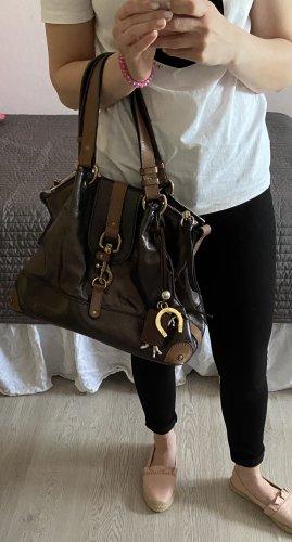 Chloé Bolso barrel marrón oscuro-marrón