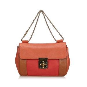Chloe Tricolor Leather Elsie Shoulder Bag