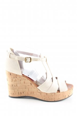 Chloé Wedges Sandaletten wollweiß Casual-Look