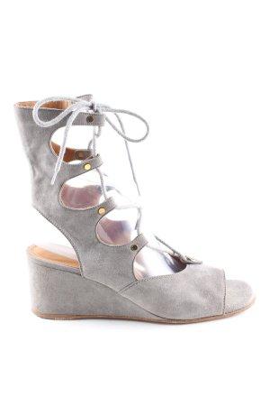 Chloé Wedges Sandaletten hellgrau Casual-Look