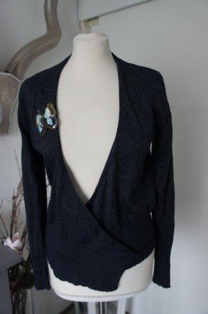 Chloé Wraparound Jacket dark blue