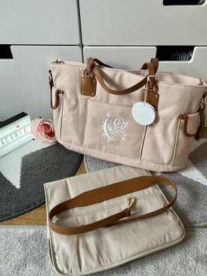 Chloé Wickeltasche rosa braun