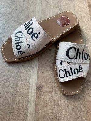 Chloé Comfortabele sandalen room-zwart