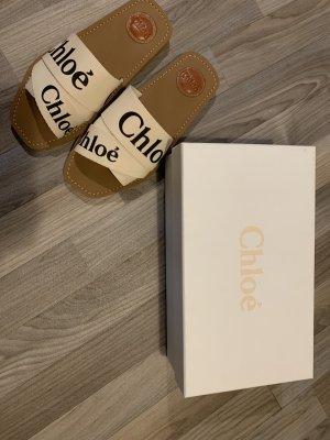 Chloé Sandales à lanière crème-blanc cassé