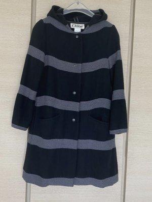 Chloé Manteau en laine noir-gris