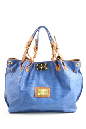 CHN Handtasche blau Animalmuster Casual-Look