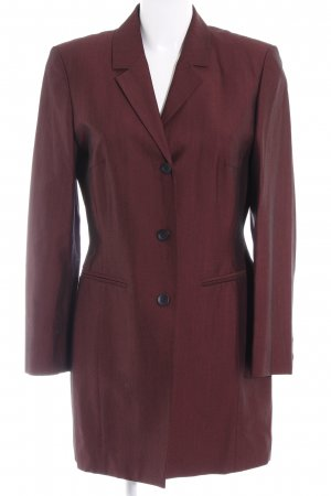 Choies Long Blazer bordeaux-black flecked elegant