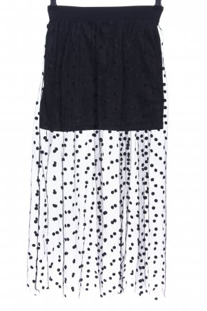 Choies Midi Skirt white-black spot pattern elegant