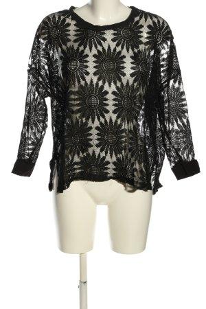 Choies Siateczkowa koszulka czarny W stylu casual
