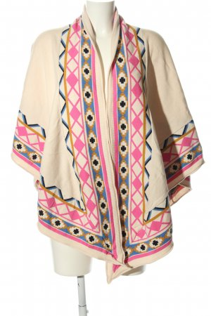 Choies Poncho grafisches Muster Casual-Look