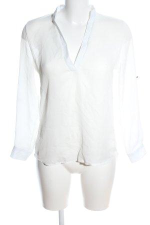 Choies Transparentna bluzka biały-w kolorze białej wełny W stylu casual