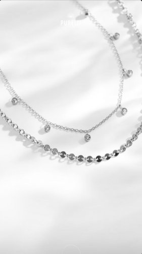 Purelei Cadena de plata color plata-gris claro