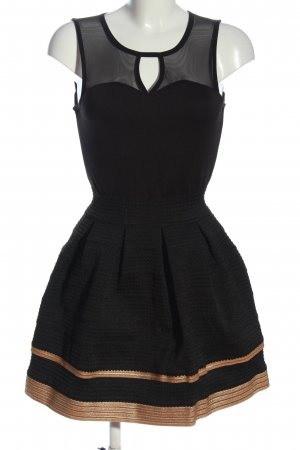 Choklate Sukienka mini czarny-brązowy Elegancki