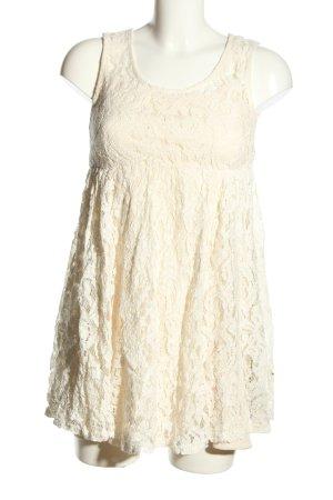 Choklate Koronkowa sukienka w kolorze białej wełny Wzór w kwiaty Elegancki