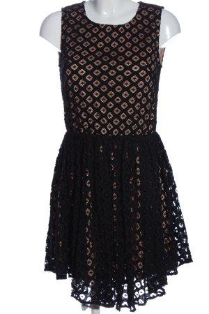 Choklate Koronkowa sukienka nude-czarny Na całej powierzchni W stylu casual