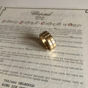 {{ CHOPARD ICE CUBE Ring }} mit Zertifikat