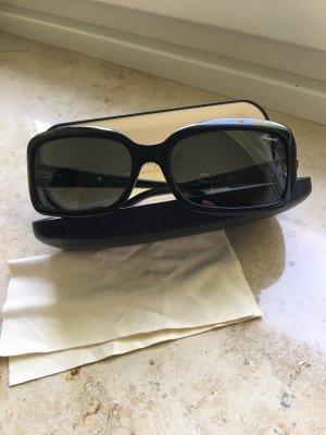 Chopard Hoekige zonnebril zwart