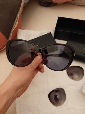 Chopard Oval Sunglasses black-sand brown mixture fibre
