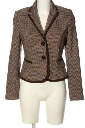 Chopin Roma Short Blazer brown-cream check pattern business style