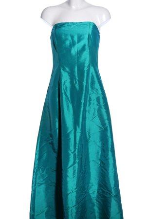 Chou Chou Sukienka z dekoltem typu bandeau turkusowy Z połyskiem