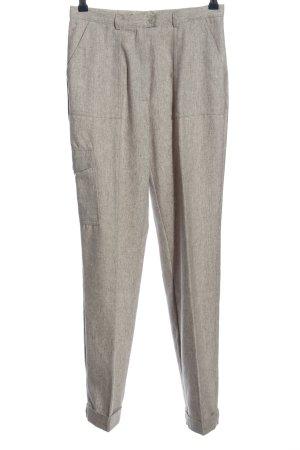 Chou Chou Spodnie materiałowe w kolorze białej wełny Melanżowy