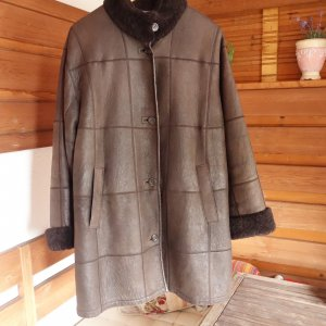 Christ Leather Coat dark brown-brown