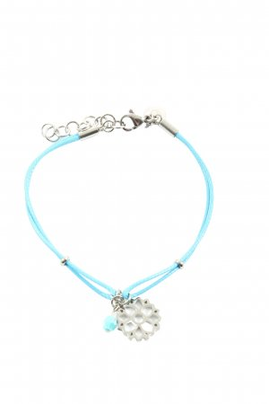 Christ Friendship Bracelet blue-silver-colored casual look