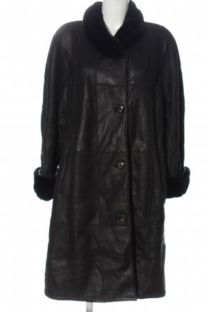 Christ Leather Coat black casual look